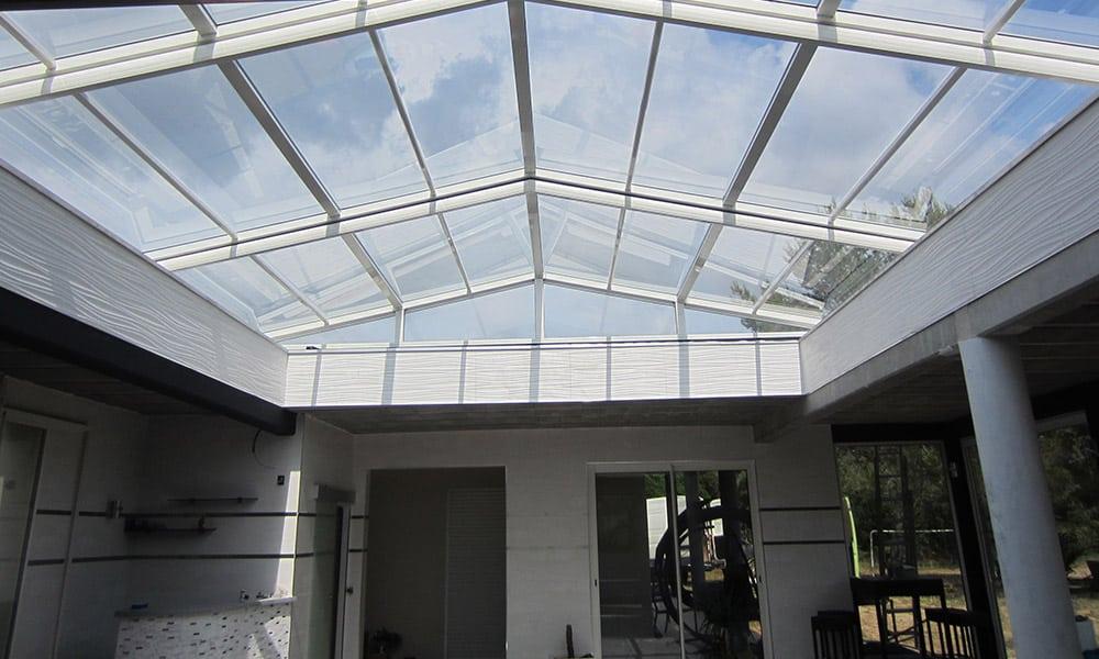 Roof enclosure - Roof swimming pool enclosure, France