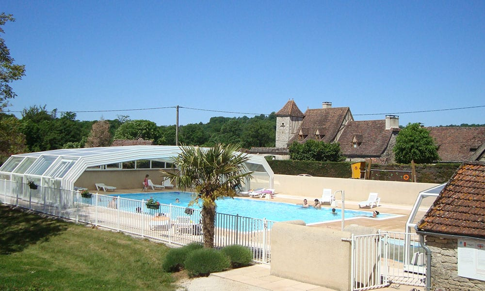 Public pool enclosures - Camping Le Ventoulou, France