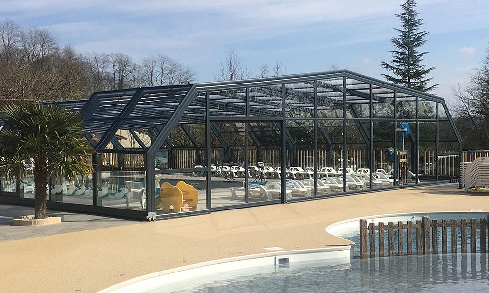 Public pool enclosures - Swimming pool enclosure camping Padimadour
