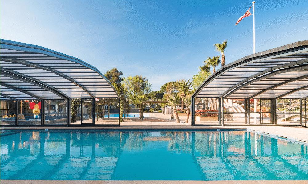 Public pool enclosures - Campsite, France